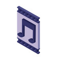 video player isometric symbol vector image vector image