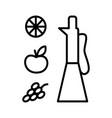 vinegar in glass jar line art style vector image