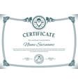 vintage christmas certificate santa claus vector image vector image