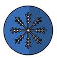 winter snowflake icon vector image vector image