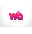 wq w q letter logo with pink purple color and vector image vector image