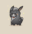 cute donkey isolated on gray backgroun vector image