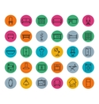 House furniture colorful linear icons set vector image
