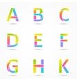 Logo letters a b c d e f g h k company design vector image