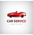 red car icon logo isolated vector image