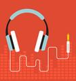 headphone flat design vector image