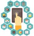 Mobile Apps Development for Tablet vector image