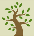 Stylized colorful tree icon vector image