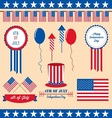 4th of july design element vector image