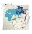 a time to travel template vector image vector image