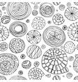 abstract spirals and circles seamless pattern for vector image vector image