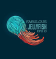 abstract turquoise jellyfish vector image