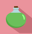 aloe vera chemical pot icon flat style vector image
