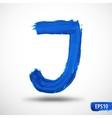 Alphabet Letter J Watercolor Alphabet vector image vector image