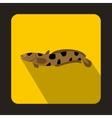 Anarhichas fish icon flat style vector image