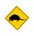 Armadillo warning sign vector image