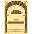 Art Nouveau Background and Frame vector image vector image