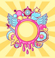 background with cartoon fantasy objects fashion vector image