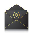 black envelope with bitocin sign vector image