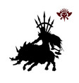 black silhouette of orc warlord vector image vector image