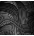 Black striped waves abstract pattern design vector image vector image