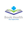 book health logo designs vector image vector image