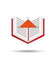 book school open and triangle geometri vector image
