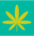 cannabis green leaf hippie sign isolated on white vector image vector image