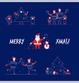 cartoon flat family characters winter holidays vector image vector image