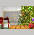 christmas background with gifts balls vector image vector image