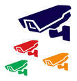 closed circuit television sign cctv icon vector image vector image