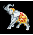 collection mascots statuette an elephant vector image vector image