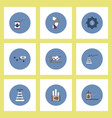 Collection of icons in flat style fuel and energy
