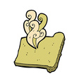 comic cartoon hot toast vector image vector image