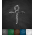 Coptic Cross Ankh icon vector image