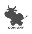 cow silhouette logo vector image