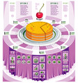 creative infographics elements piece of pie idea vector image vector image