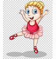 cute ballerina on transparent background vector image