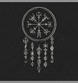 dark runic symbols dreamer vector image vector image