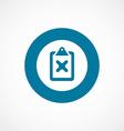 denied bold blue border circle icon vector image