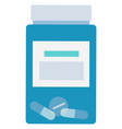 drug in plastic container pills in jar vector image vector image