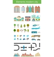 Elements of the modern city and nature vector image