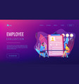 employee assessment concept landing page vector image vector image