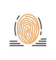 fingerprint icon line isolated vector image