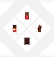 flat icon chocolate set of wrapper chocolate vector image vector image