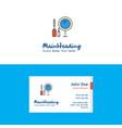 flat makeup logo and visiting card template vector image