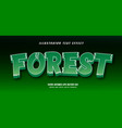 forest text effect vector image vector image