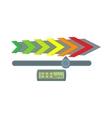 Gauge speedometer icon cartoon style vector image