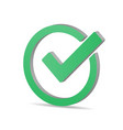 Green tick checkbox isolated on