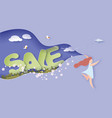 happy sale spring paper cut 3d vector image